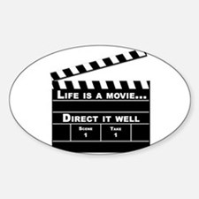 Life is a Movie - Oval Decal