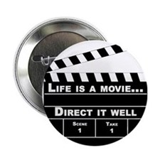 """Life is a movie - 2.25"""" Button (100 pack)"""