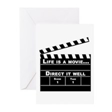 Life is a movie V2 Greeting Cards