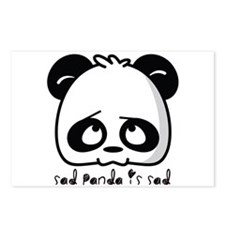 Sad Panda is sad Postcards (Package of 8)