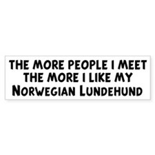 Norwegian Lundehund: people I Bumper Bumper Sticker