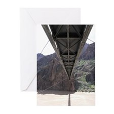 Grand Canyon Bridge - Below  Greeting Cards (6)