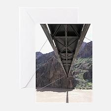 Grand Canyon Bridge - Below  Greeting Cards (6)
