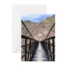 Grand Canyon Bridge South Greeting Cards (6)