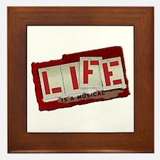 Life is a Musical - Framed Tile