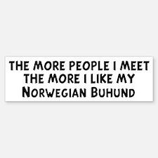 Norwegian Buhund: people I me Bumper Bumper Bumper Sticker