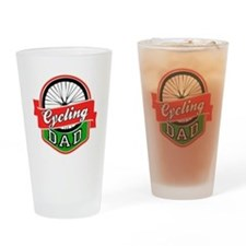 Cycling Dad Drinking Glass