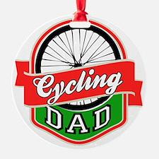 Cycling Dad Ornament