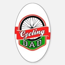 Cycling Dad Sticker (Oval)