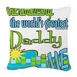 LTIntroGreatestDaddy copy.png Woven Throw Pillow