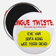 """Tongue Twister 2.25"""" Magnet (10 pack)"""