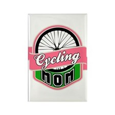 Cycling Mom Rectangle Magnet