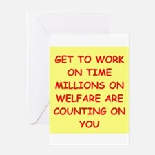 WELFARE Greeting Cards