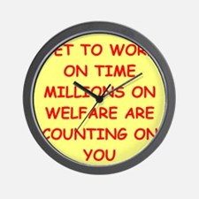 WELFARE Wall Clock
