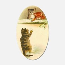 Cute Vintage Kittens Playing Wall Decal