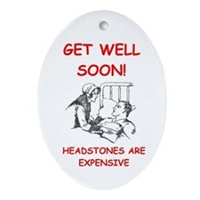 GET WELL Ornament (Oval)