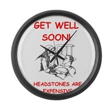 GET WELL Large Wall Clock