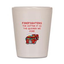 firefighter Shot Glass