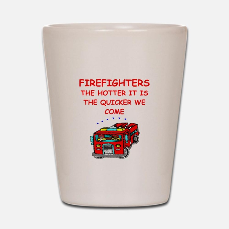 firefighter Shot Glass