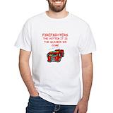 Funny fireman Mens White T-shirts