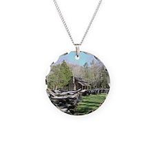 Mountain Log Cabin Necklace