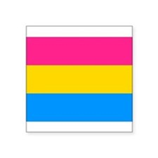 Pansexual Flag Rectagular Sticker