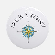 Life Is A Journey Ornament (Round)