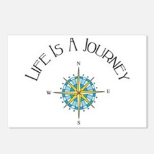 Life Is A Journey Postcards (Package of 8)