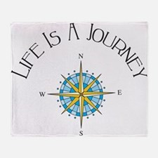 Life Is A Journey Throw Blanket