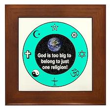 Big God Religion III Framed Tile