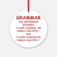 grammar Ornament (Round)