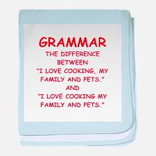 grammar baby blanket