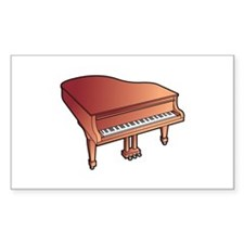 piano grand brown Decal