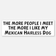 Mexican Hairless Dog: people Bumper Bumper Bumper Sticker