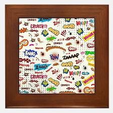 Comic Words Framed Tile