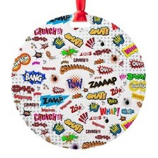 Comic Words Ornament