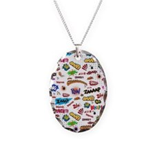 Comic Words Necklace