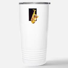 sax painted style yellow w dark Travel Mug