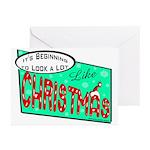 Retro Christmas Greeting Cards (Pk of 10)