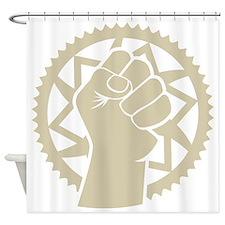 Chainring power revolution Shower Curtain