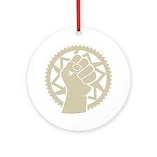 Chainring power revolution Round Ornament