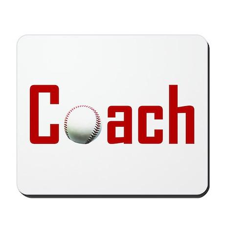 Baseball Coach Dark Red Mousepad