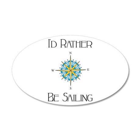 Id Rather Be Sailing Wall Decal