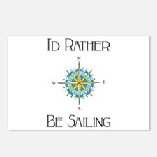 Id Rather Be Sailing Postcards (Package of 8)