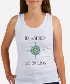 Id Rather Be Sailing Tank Top