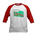 Retro Christmas Kids Baseball Jersey