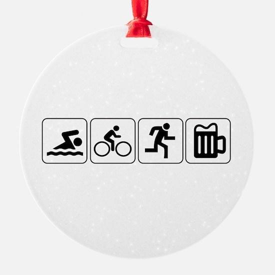 Swim Bike Run Drink Ornament