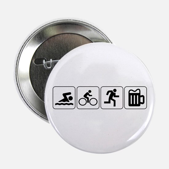 "Swim Bike Run Drink 2.25"" Button"