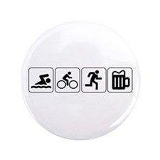 "Swim Bike Run Drink 3.5"" Button"
