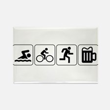 Swim Bike Run Drink Rectangle Magnet